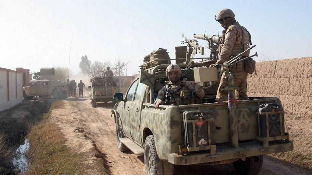 Afghansk militär i Nad Ali.