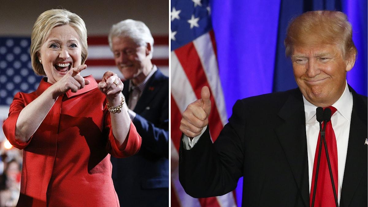 Hillary Clinton och Donald Trump vann varsitt primärval i natt.