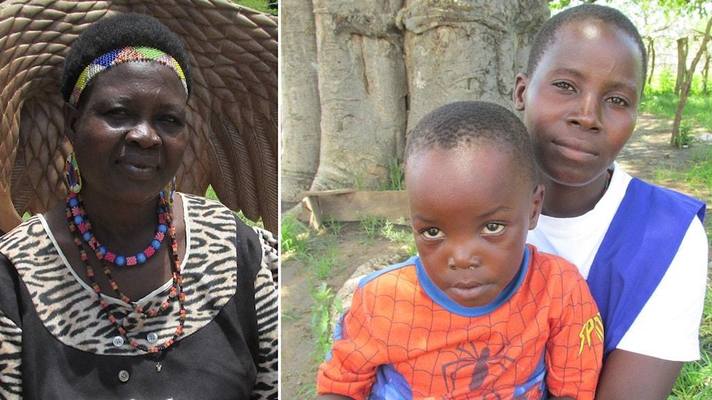 Theresa Kachindamoto är traditionell ledare, hon har gett sig tusan på att får bort barnäktenskapen. Stella Kalikombe blev gravid när hon var tolv år. Foto: Richard Myrenberg/Sveriges Radio.