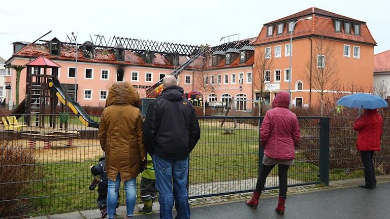 Upprördheten har varit stor sedan en flyktingförläggning stacks i brand i Tyskland.