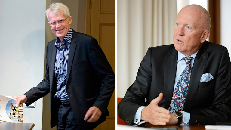 Mats Norin, ekonom på LO, och Peter Jeppsson, vice vd för Svenskt Näringsliv.