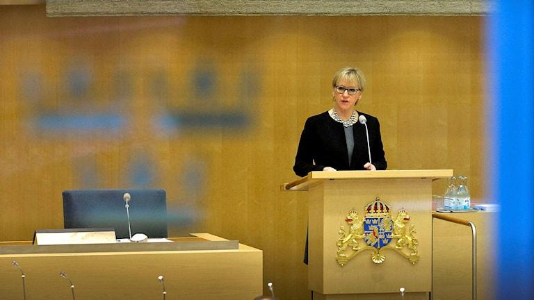 Margot Wallström i riksdagen. Foto: Foto Jonas Ekströmer/TT.