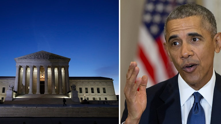 Högsta domstolen i Washington, USA. President Barack Obama.