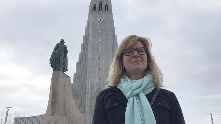 Isländska turistrådets chef, Ólöf Ýrr Atladóttir. Foto: Jens Möller/Sveriges Radio