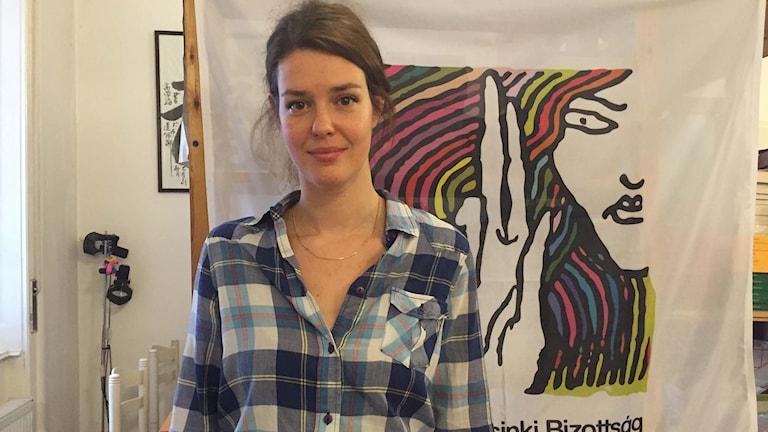 Julia Ivan, jurist på ungerska Helsingforskommitten. Foto: Johanna Melén/Sveriges Radio.