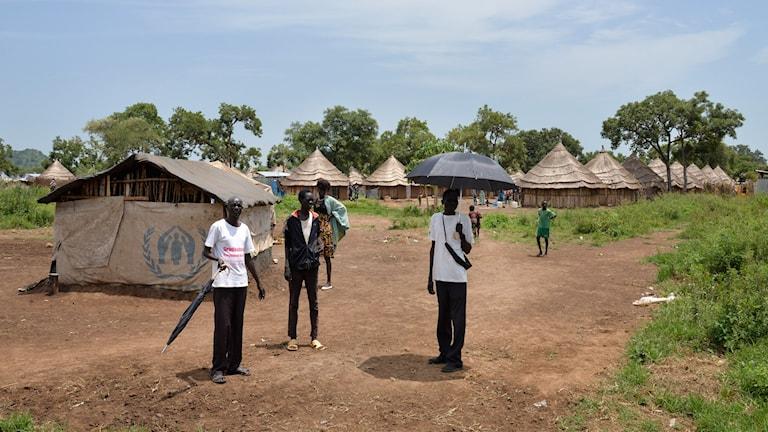 Sydsudanska flyktingar i flyktinglägret i Etiopien.