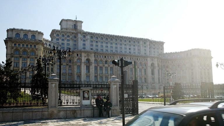 Parlamentet i Bukarest, Rumänien.