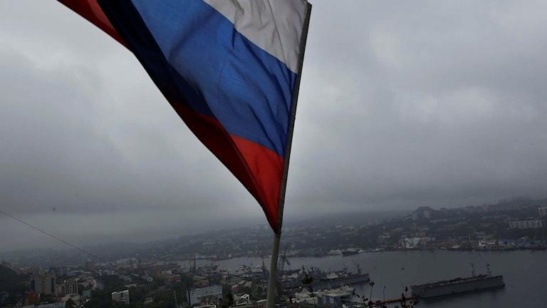 Rysk flagga vajar över Vladivostok