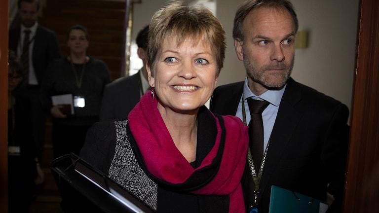 Danmarks miljöminister Eva Kjer Hansen avgår Foto: FRANDSEN FINN/TT