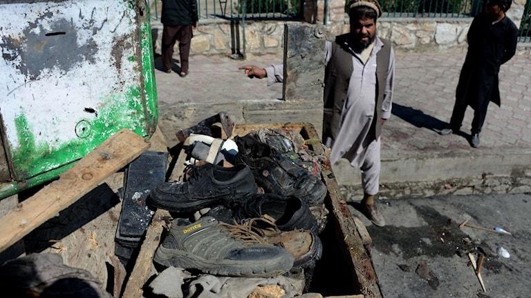 Minst elva personer har dödats i ett självmordsdåd i Asada-bad i Kunarprovinsen i östra Afghanistan Foto: Noorullah Shirzada/ AP