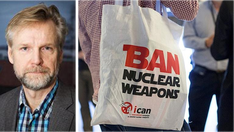 Tomas Ramberg erfar att Sverige går med Humanitarian Pledge Foto: ICAN och Pablo Pablo Dalence/ Sveriges radio