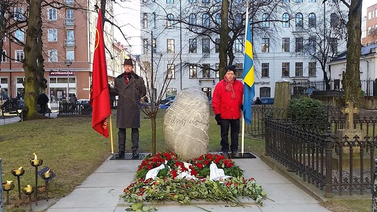 Rustan Rydman har varit med och burit flaggan de tio senaste årsdagarna.