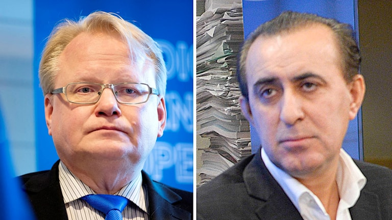 Försvarsminister Peter Hultqvist (S) och riksdagsledamoten Jabar Amin (MP).