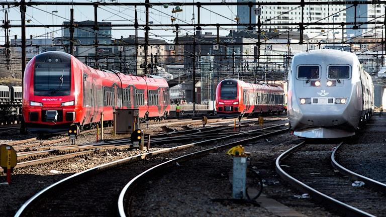 Snabbtåg SJ och MTR