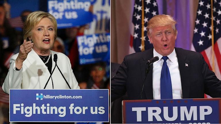 Demokraternas Hillary Clinton och Republikanen Donald Trump.