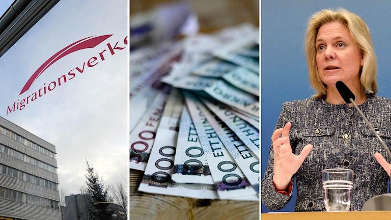 Regeringen har redan planerat för höjda anslag, enligt Magdalena Andersson.