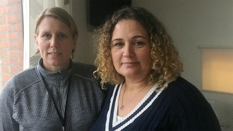 Kriminalinspektörer Åsa Johansson och Matilda Lundh på Grova Brott Syd i Stockholm.