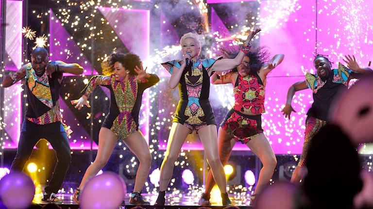 Dansare på en scen