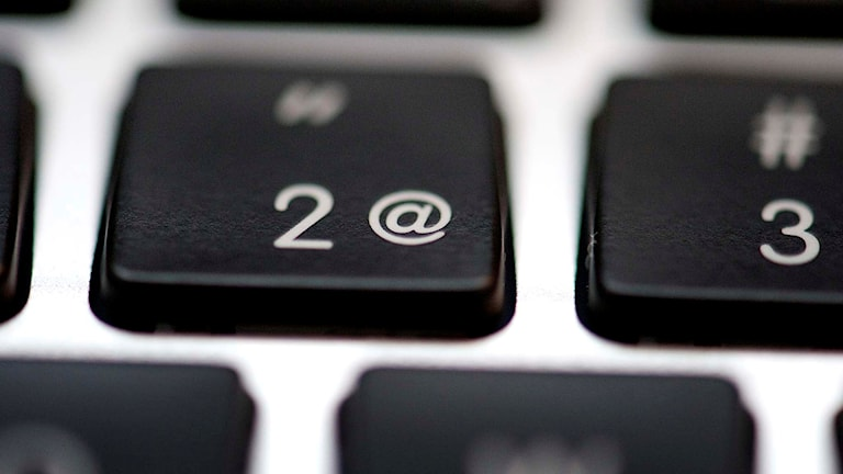 Snabel-a på ett tangentbord.