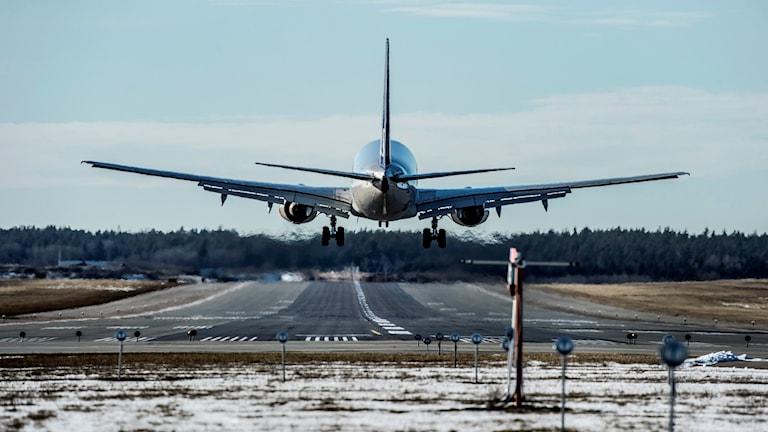 Arkivbild. Plan som landar på Arlanda.