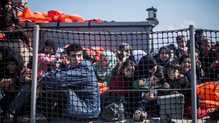 Flyktingar på lesbos.