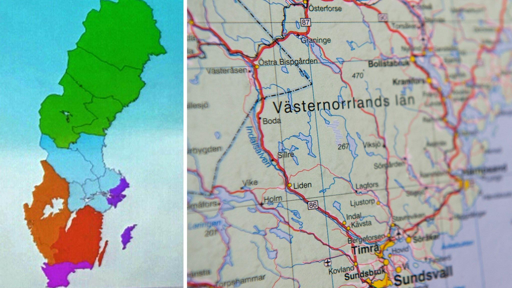 Karta Sverige Lansgranser.Norrland Spas Bli Forst Att Bilda Storregion Nyheter Ekot