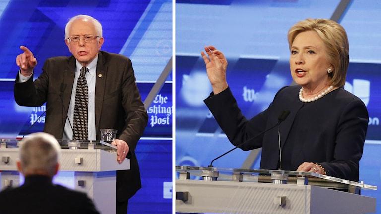 Hillary Clinton och Bernie Sanders