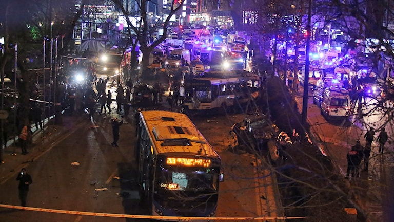 Parken i Ankara där explosionen ägde rum.
