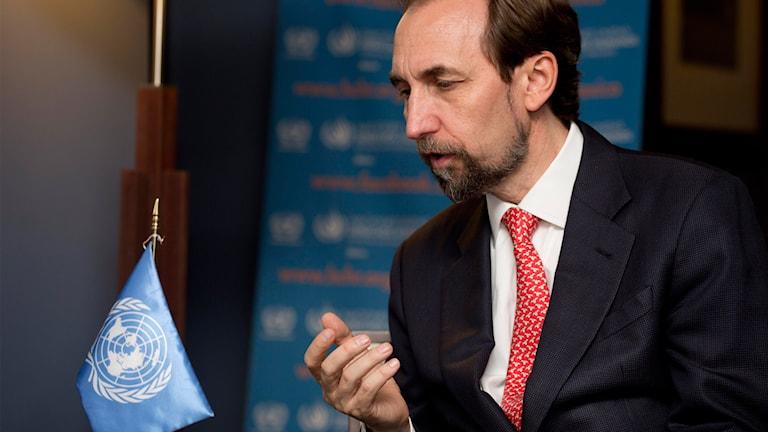 Människorättskommissarie Zeid Ra' ad Al Hussein.