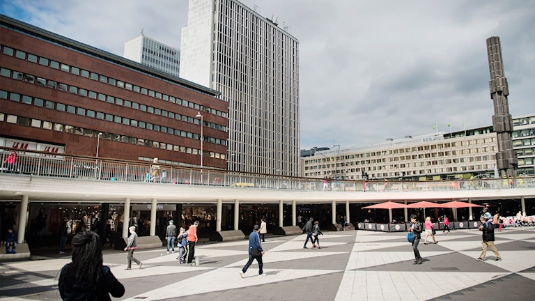 Plattan i centrala Stockholm.