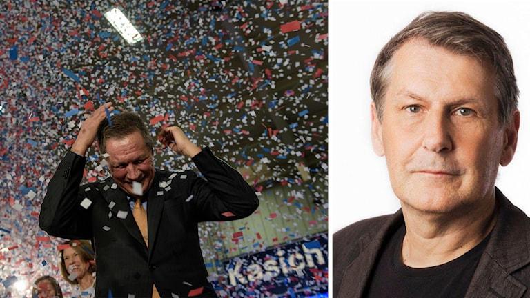 Republikanska presidentkandidaten firar segern i Ohio.