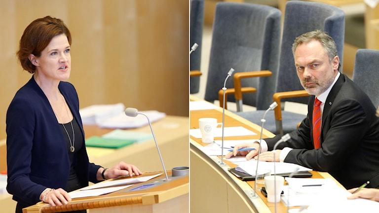 Batra och Björklund i dagens riksdagsdebatt.