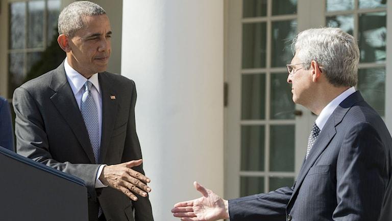 Obama och den nominerade Merrick Garland