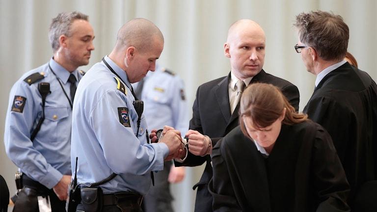 Breivik i rätten i Skien