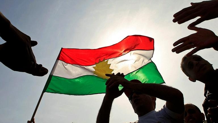 Kurdisk flagga