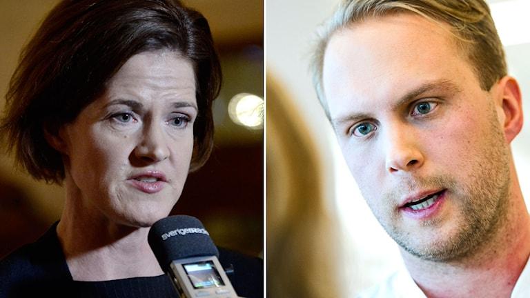 Anna Kinberg Batra och Rasmus Törnblom