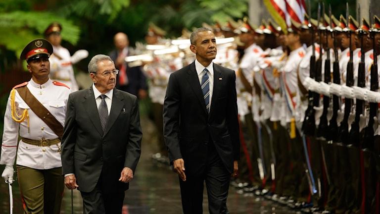 Kubas president Raul Castro och USA:s president Barack Obama.