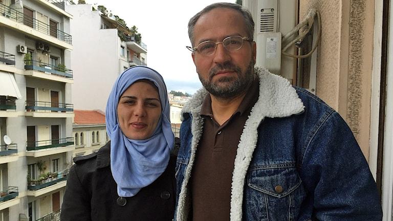 Adeebah Anadani och hennes man Abdul Kadir Anadani från Syrien väntar på besked om vilket EU-land som kan tänkas ta emot dem.
