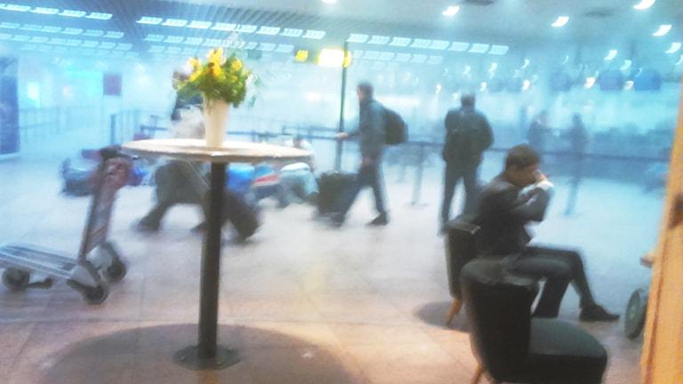 bild från flygplatsen i Bryssel