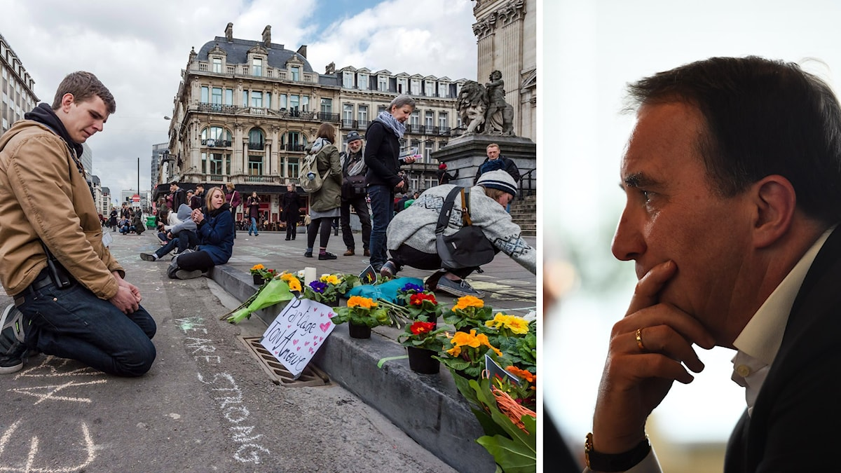 Prime minister Stefan Löfven says Sweden mourns with Brussels, and we must defend our open society. Photo: AP