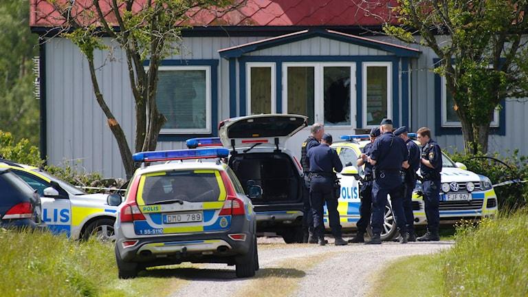 Två 13-åriga pojkar misstänks för att ha mördat en 65-årig man på hans gård förra sommaren.