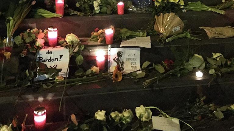 Terror Bryssel Blommor