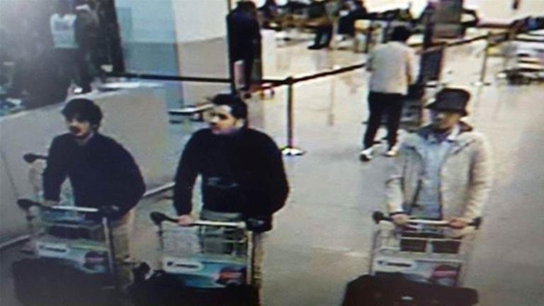 De tre personerna som misstänks för bombdåden.