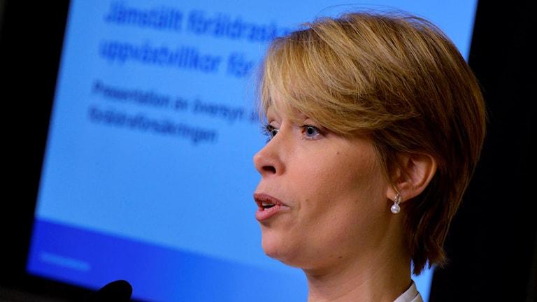 Socialförsäkringsminister Annika Strandhäll.