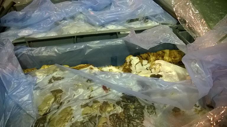 Kött från det stoppade partiet