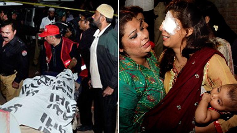 Bombdåd i Lahore Pakistan Foto: K.M. Chuadary / AP