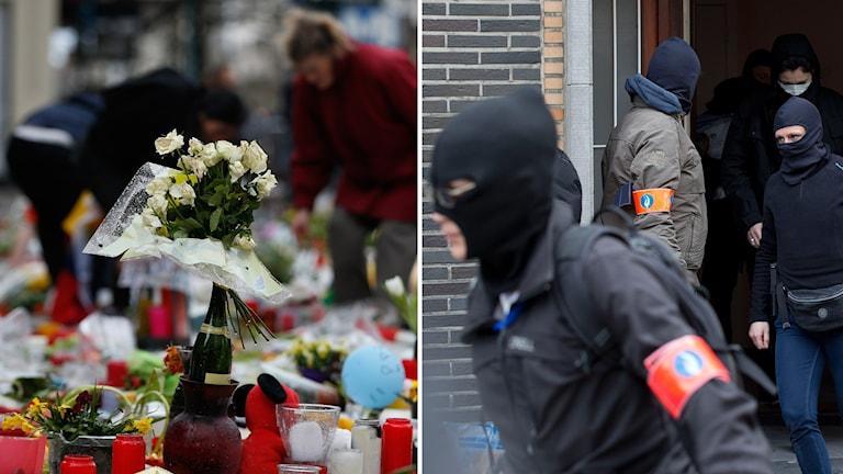 Blommor och säkerhetspolis.