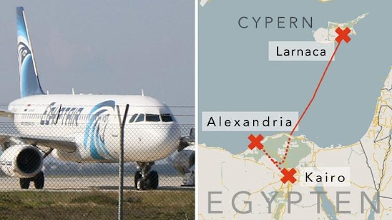 Planet kapades - tvingades landa på Cypern.