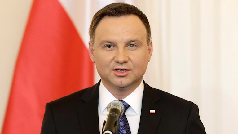 Polens president Andrzej Duda är under press Foro: Petr David Josek /TT