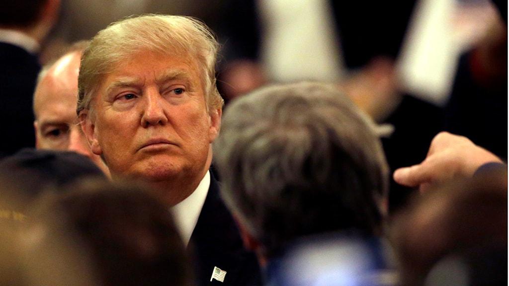 Donald Trump i en folkmassa